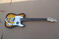 100% New Arrival sunburst Electric Guitar with body binding and tremolo arm t42
