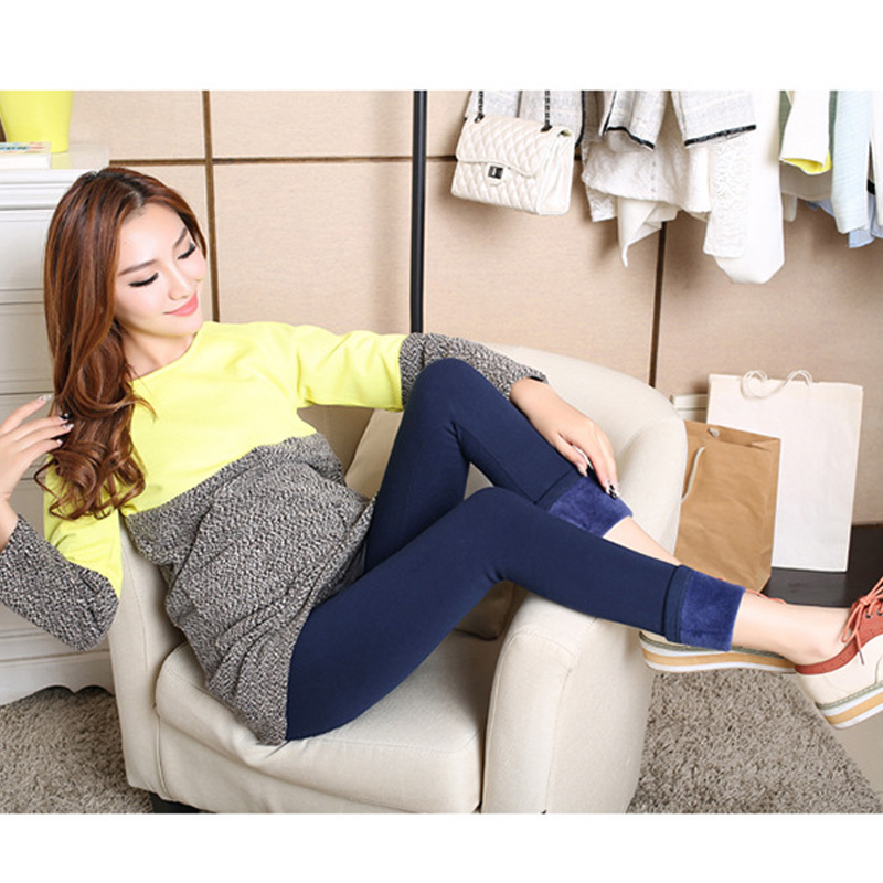 5447725c9441f Warm Anti Cold Thickening Velvet Leggings Pencil Pants Skinny Trousers for  Pregnant Women High Waist Maternity Leggings Clothing-in Leggings from  Mother ...