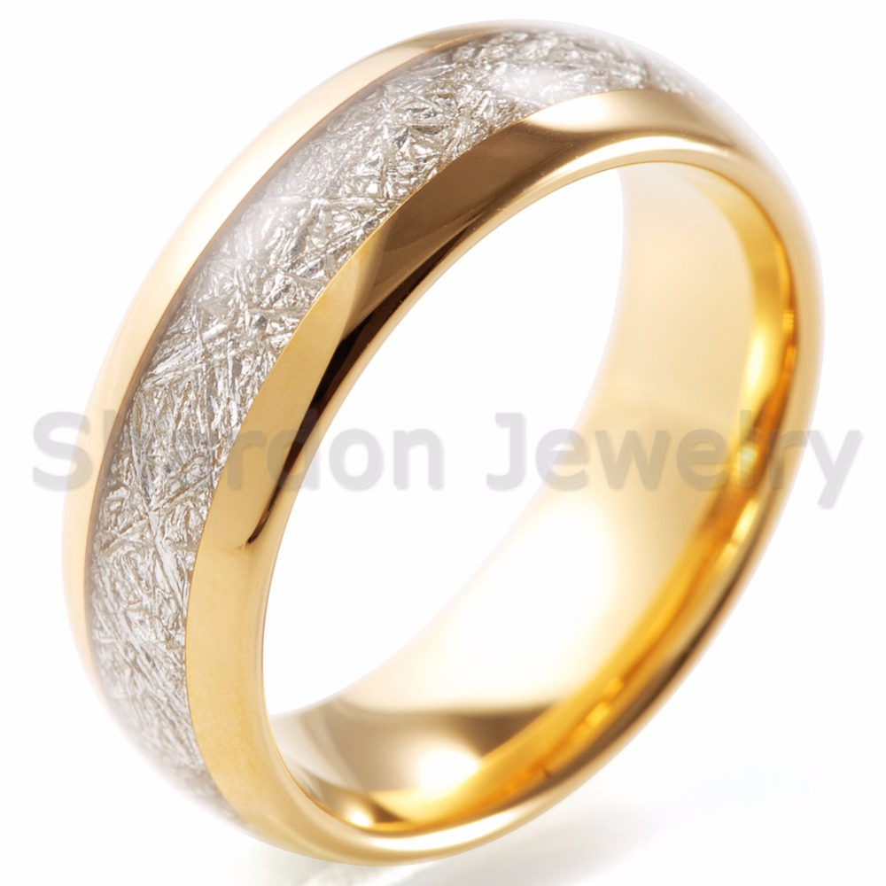ring wedding s band rings product d engagement rose inlay gold x page tungsten meteorite copy of
