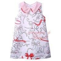 Pettigirl Doll Collar Girl Dress Sleeveless Bow Print Casual Style GD81022-120Z