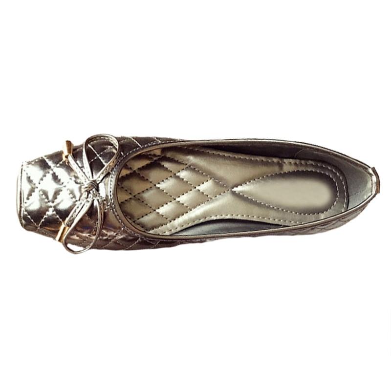 Été Simples 9 or Plus La 2018 Femmes Élégant Flats De Noir Printemps Zh2835 Chaussures Doux gris Taille Nouveau qfpwE0f