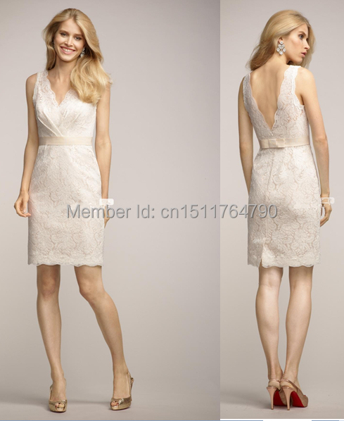 ae9c7d691a4 Classy Lace V neckline Cap Sleeve Sheath Wedding Guest Dress Elegant  Cocktail and Paryt Dress Fr Girl Knee Length CUstom Made
