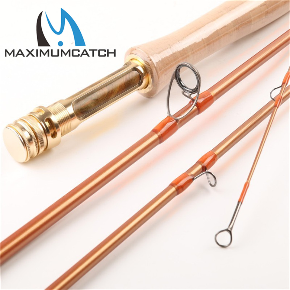Maxcatch Super Quality Skyhigh 9054 Gold Fly Rod Fly Rod Half-well Fast action with Aluminium Tube