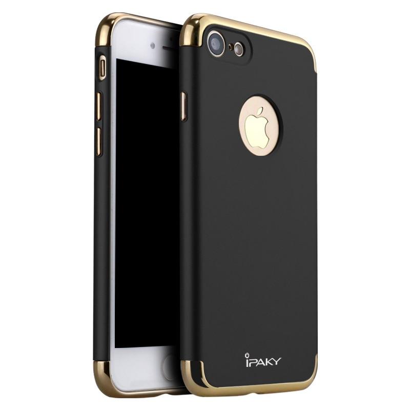 W 100% oryginalna, klasyczna obudowa z twardego plastiku marki IPAKY 3 IN 1 na iPhone 7 i iPhone 7 oraz luksusowe plastikowe etui