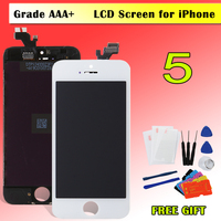 1PCS 100 Test AAA Pantalla For IPhone 5 5C 5S LCD Display Touch Screen Digitizer Assembly