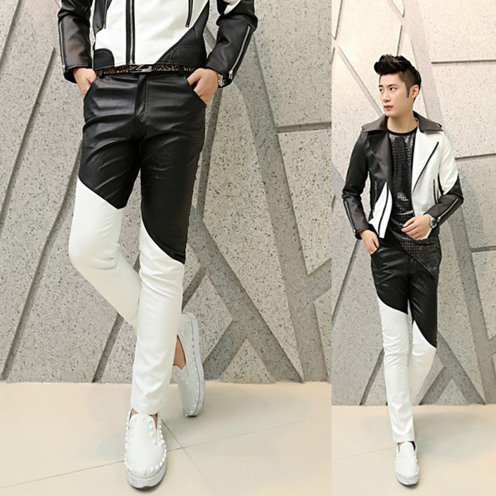 Popular White Leather Pantes-Buy Cheap White Leather Pantes lots ...