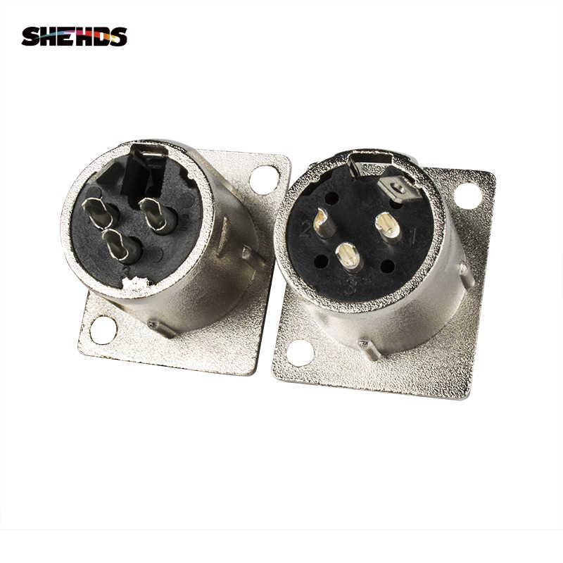 SHEHDS 2 pz/lotto di Ferro/Plastica DMX512 Spina 3 pin XLR Segnale pannello Presa Adattatore del Connettore per Cavo DMX della fase luci DMX di Controllo
