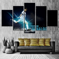 5 Panel C Ronaldo Real Madrid Canvas Printed Painting For Living Picture Wall Art HD Decor