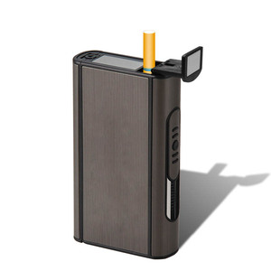 Image 2 - High Quality 1 PCS Aluminium Alloy  Ejection Holder Portable Automatic Cigarette Case Windproof Metal Box Smoke Boxes