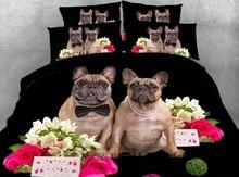 Pug Bedding set Dog Luxury 3D quilt duvet cover bed sheet linen California King Queen size bed in a bag full twin double 4PCS feather duvet cover bedding set luxury california king queen size sheets bed in a bag sheet linen full twin double single 4pcs