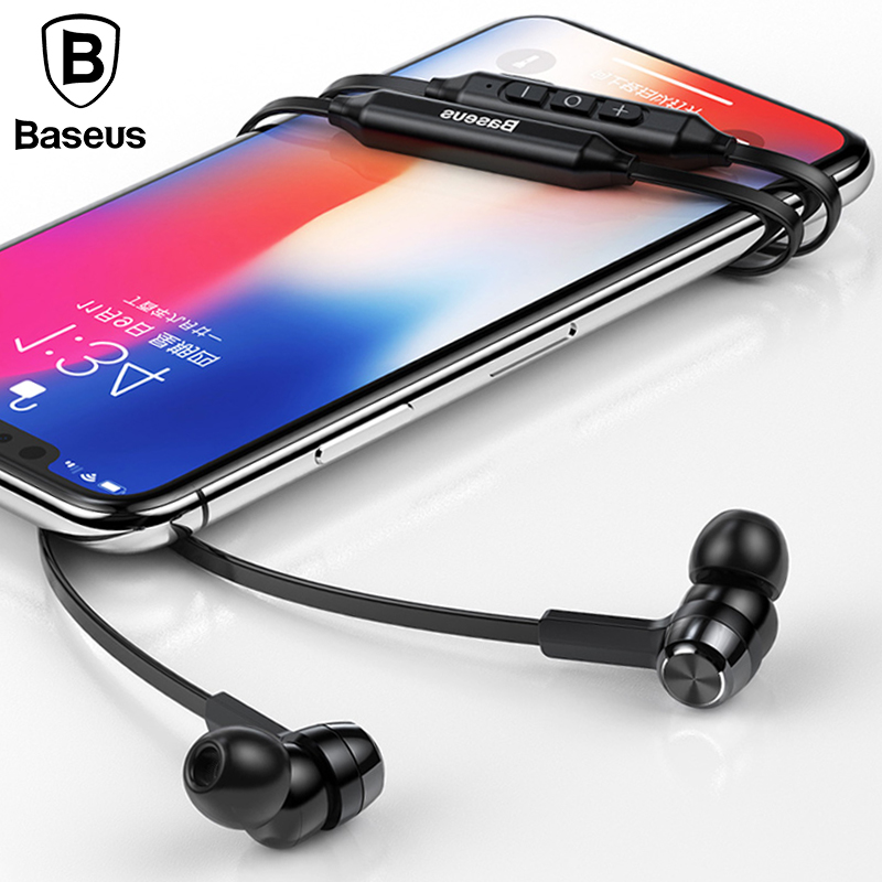 Baseus S06 Neckband Bluetooth Earphone Wireless headphone For Xiaomi iPhone earbuds stereo auriculares fone de ouvido with MIC original remax s8 wireless bluetooth earphone for iphone 7 xiaomi mi 5 wireless earpod sport stereo earbuds with mic auriculares