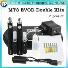 คู่MT3 Evodบุหรี่อิเล็กทรอนิกส์Eซิการ์ชุด2 * MT3อะตอมไมเซอร์2 * Evodแบตเตอรี่สำหรับที่ดีที่สุดE-บุหรี่อัตตาสองชุด5ชิ้น/ล็อต