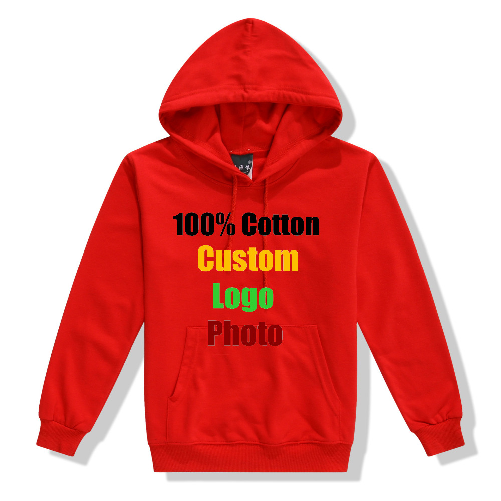 Punk Student Pupil Sweatshirt Cotton Custom Logo Solid Kawaii Kids Children 4-14 Year Old Hooded Hoodies Pocket Tracksuit Jumper