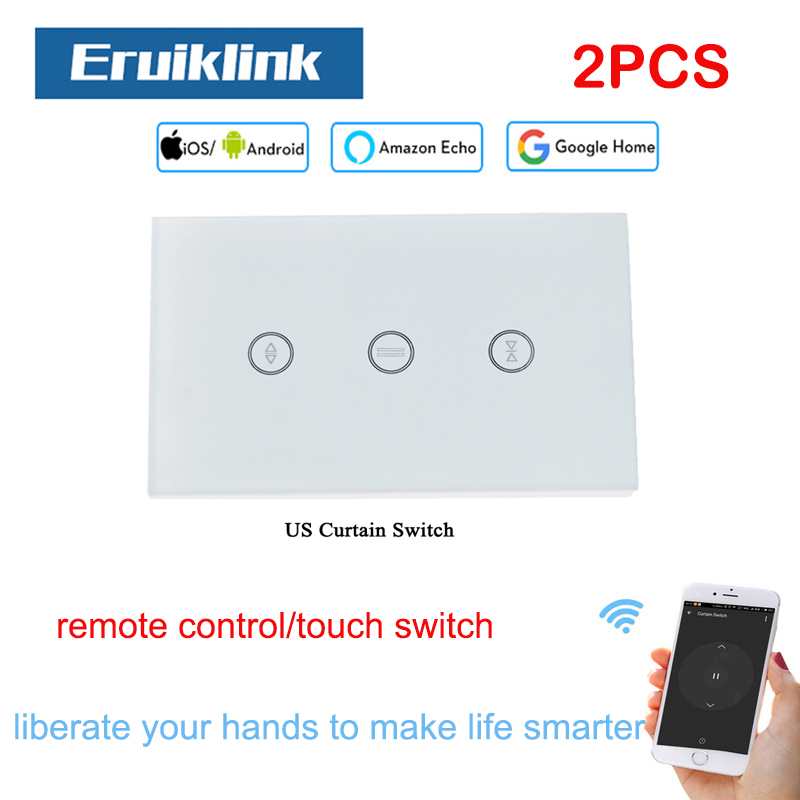2PCS US Standard Curtain Switch For Roller Motor With 4Wires Work with Google Home Assistant Alexa Echo Support Wifi APP Control2PCS US Standard Curtain Switch For Roller Motor With 4Wires Work with Google Home Assistant Alexa Echo Support Wifi APP Control