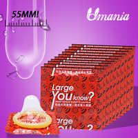 Adult Large Condoms 50pcs 100pcs Natural Latex Intimate Goods Condom Contraception Sex Toys for Men Penis Sleeve Extender