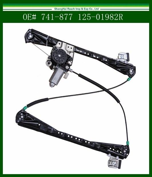 Frente Regulador Da Janela de Poder w/Driver de Motor Lado Direito RH para 00-02 Lincoln LS-Tipo S OE #741-877 125-01982R/125-58740R
