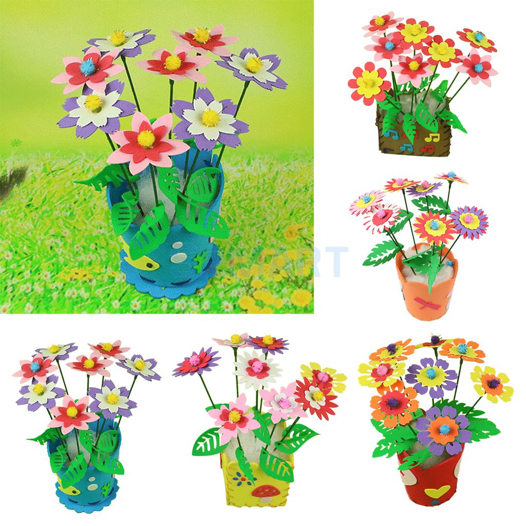 Online buy wholesale kids flower crafts from china kids for Bulk arts and crafts
