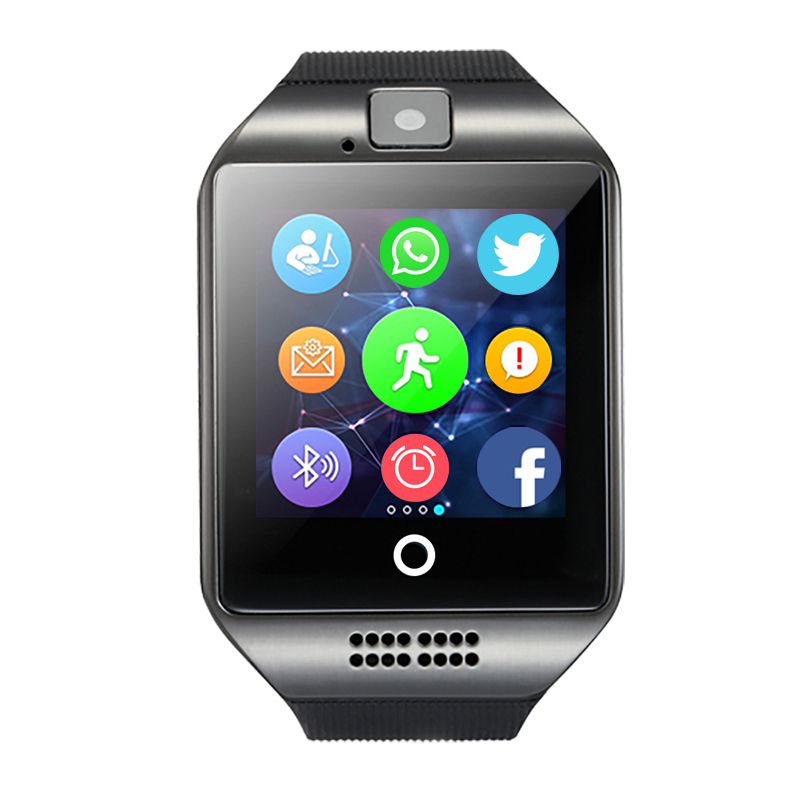 MOCRUX Q18 Bluetooth Fitness Tracker Smart Sport Clock Watch SIM TF Card Anti lost Passometer for