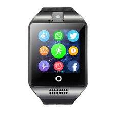 Купить MOCRUX Q18 Bluetooth Фитнес трекер Smart спортивные часы sim-карта TF анти-потерянный шагомер для Android-смартфон PK a1 DZ09