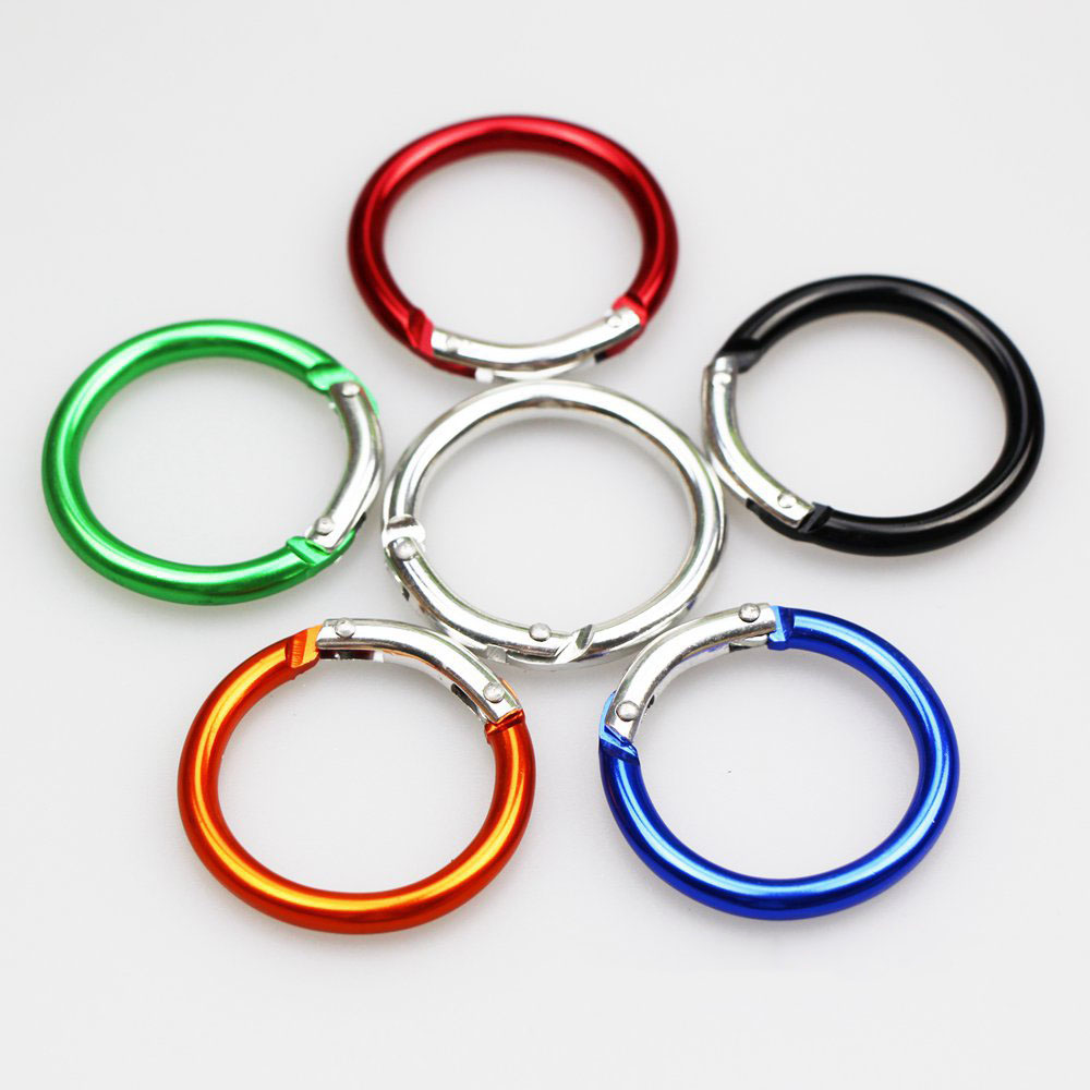 5pcs High Quality round shape Aluminium Carabiner Hanger Buckle fastener clasp buckle bag hook F7-15