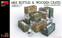 1/35 Model Scene Accessories Milk Bottle and Wooden Box 35573