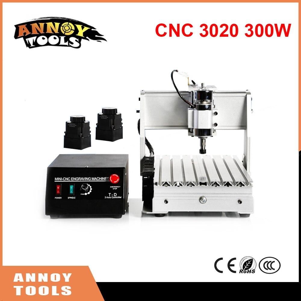CNC 300W 3020 3 Axis CNC Engraving Machine Engraving PVC Three-axis Plane Engraving Machine Wood Carving Machine 2017 hot sale model 5 axis cnc engraving