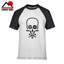 Cráneo L diseño BMX partes de motorista camiseta hombres bicicleta accesorios camiseta MTB Rider teeshirt perfecto gráfico adulto ropa
