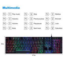 CHONCHOW Gaming Keyboard Mouse Set USB Wired Rainbow Backlight Game Keyboard and Mouse Combo For Computer Laptop Games Gamer