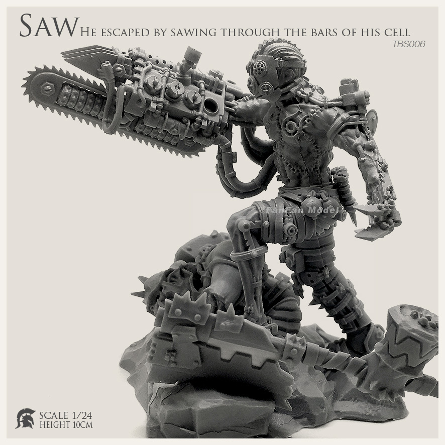 1/24  Resin Figure Kits  Saw Chainsaw Devil Resin Soldier (100mm)Tbs006