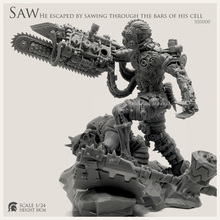1/24  Resin Figure Kits  Saw Chainsaw Devil Resin Soldier (100mm)Tbs006 np tbs006 1 24 chainsaw butcher