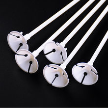 20 Sets/lot 32cm Latex Balloon Stick White PVC Rods Balloons Holder Sticks with Cup Party Supplies Party Decoration Accessories(China)