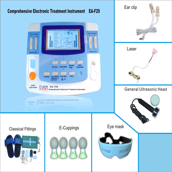 low frequency 9channels physiotherapy magnetic device laser therapy with electrode pads CE approved EA-VF29 free shipping factory sales 9 channels tens machine china ea vf29 with ce approved