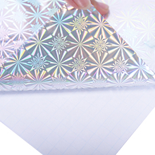 scrapbooking Holographic Laser foil wrapping stickers adhesive 3D Package Box party kraft paper decoration 45cm*10m