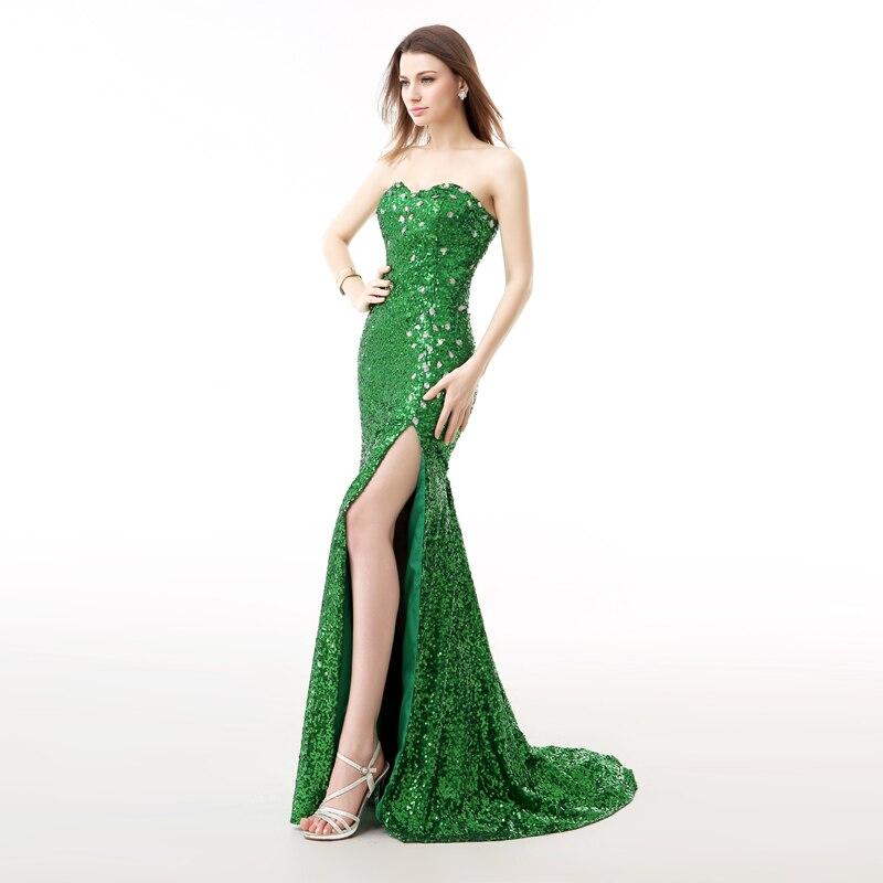 Forevergracedress Real Photos Grön Aftonklänning Ny Ankomst - Särskilda tillfällen klänningar - Foto 3