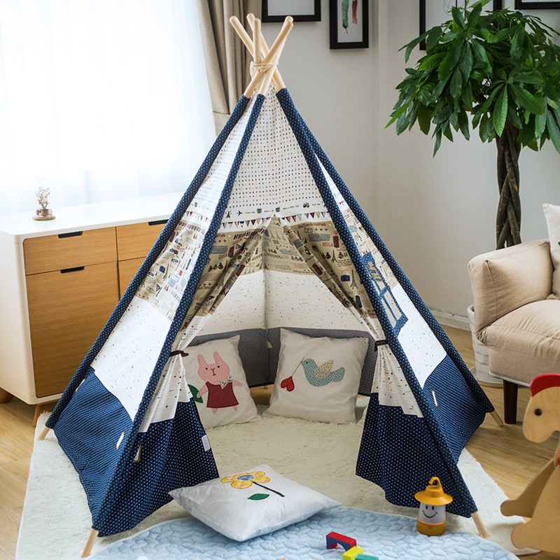 YARD Indian Play Tent Children Kids Children Play Tent Children Teepee Playhouses for Kids yard kids toys tents baby portable foldable cubby play playhouses for kids children teepee