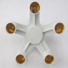 50 шт e27 к светодиодный держатель лампы 1/5 в цоколь сплиттер