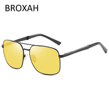 Mens Night Vision Glasses Retro Metal Polarized Sunglasses Men 2019 Driving Pilot UV400 Lunette Soleil Homme