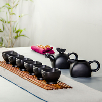 Kung Fu Tea Set 1 Teapot + 6 Tea Cups + 1 Fair Cup Kettle Infuser Teapots Handmade Zisha Ceramic Porcelain Chinese Crafts B007