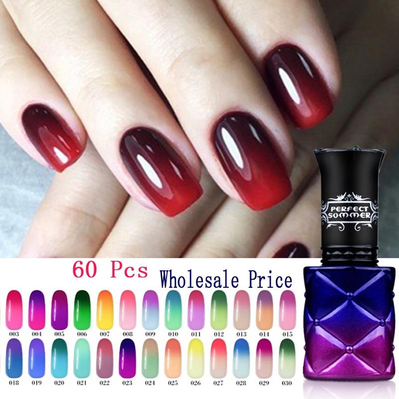 205 Color 8ml UV 60 Pcs Color Changing Gel Varnish Perfect Summer Nail Gel Polish UV LED Soak Off  Thermo Gel Nail Polish