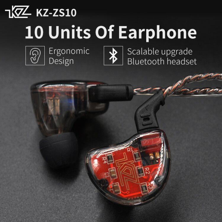 KZ ZS10 auriculares 10 conductor en auricular 4BA + 1DD dinámica armadura auriculares HiFi Bass auriculares de cancelación del ruido oído monitores híbrido - 6