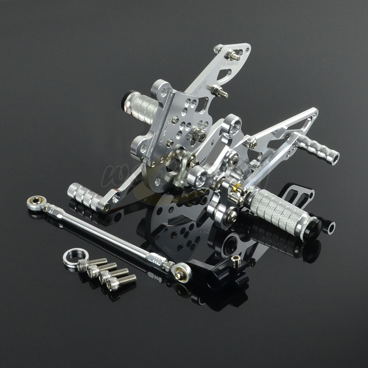 CNC Adjustable Motorcycle Billet Foot Pegs Pedals Rest Rearset Footpegs For Aprilia RSV4 2009 2013 2009