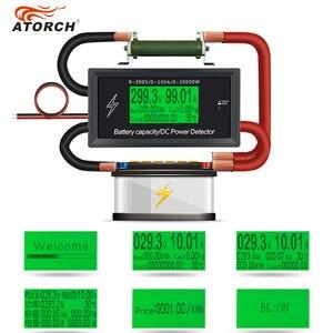 Image 2 - ATORCH تيار مستمر 300 فولت 100A دقيقة الطاقة بلوتوث متر الجهد الحالي السلطة الفولتميتر مقياس التيار الكهربائي الزائد إنذار وظيفة داخلي