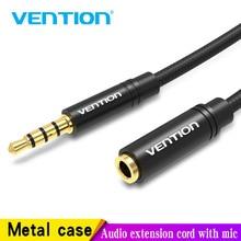 Vention Aux כבל שקע 3.5mm אודיו כבל מאריך עבור Huawei P20 סטריאו 3.5 שקע Aux כבל מתאם עבור אוזניות xiaomi סמסונג