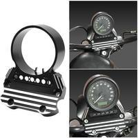 Motorcycle Black CNC Aluminum Instrument Bracket For Harley Sportster Iron XL883 Custom Low 1200 48 72