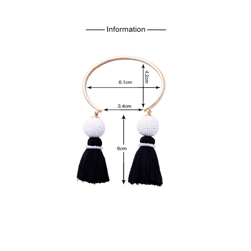 2018 New Brown Tassel Bangle Personalized Alloy Vintage Cuff Bracelet For Women Fashion Jewelry Classic Bangle Valentine Gift