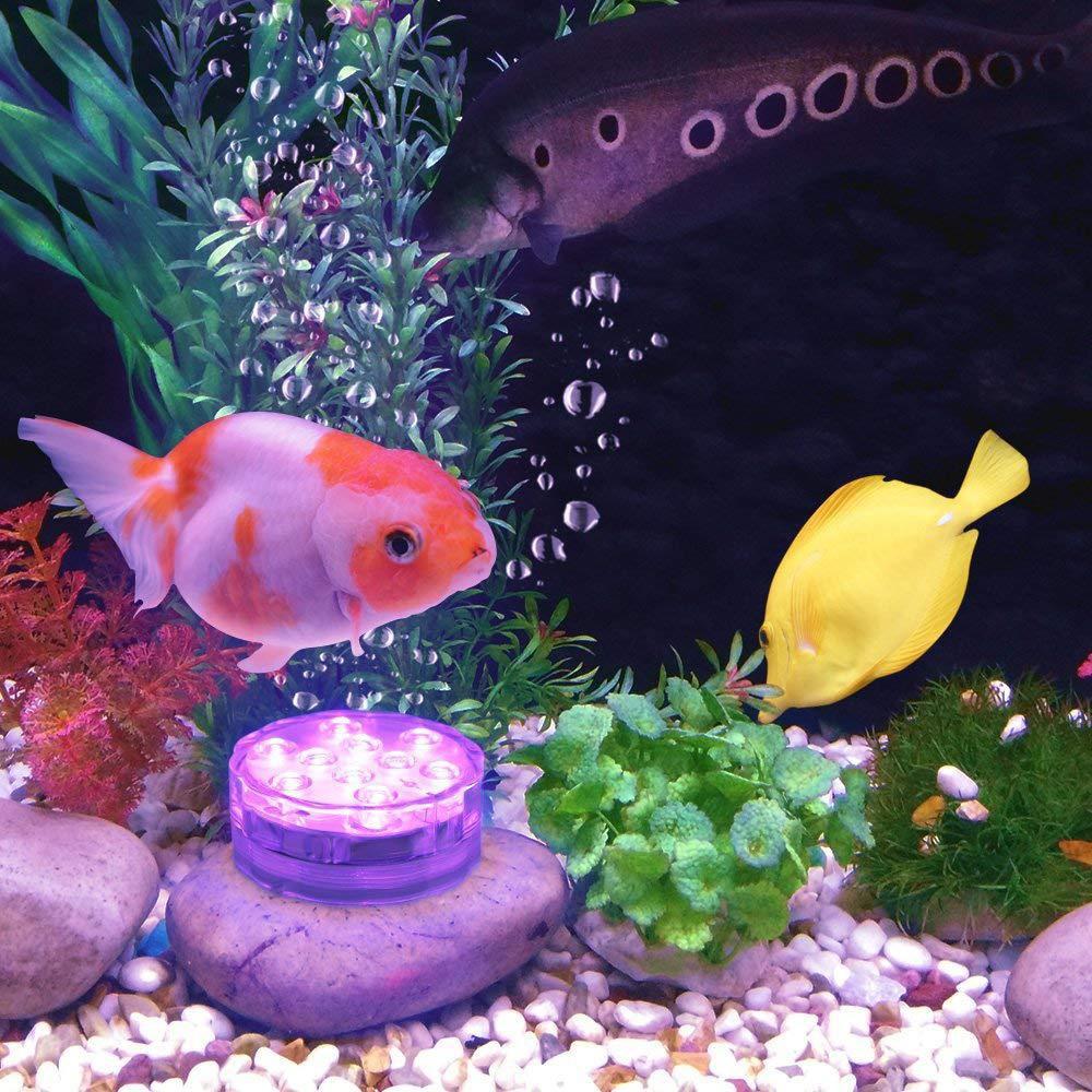 4PCS Remote Control Swimming Pool Aquarium Light RGB LED Bulb LED Diving Knob Lamp Underwater Color Vase Decor Lamp For Aquarium