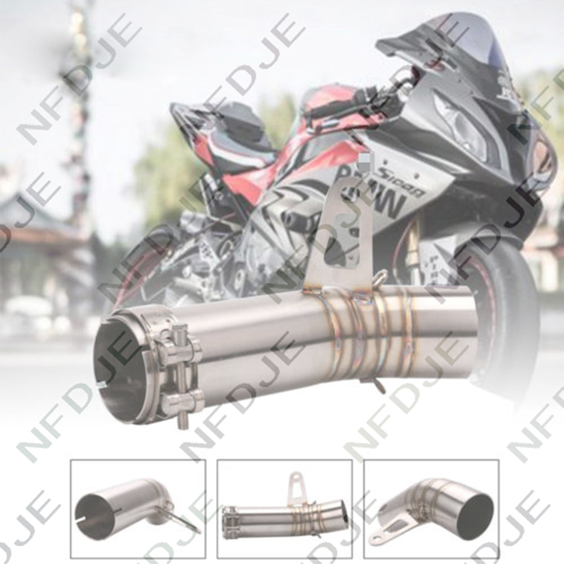 Tuyau moyen d'échappement de silencieux de moto de 61mm pour BMW S1000RR 2010-2016