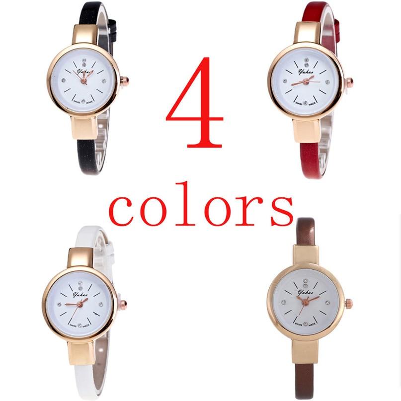 цена на Hot Sale Watch Women Fashion Casual Small Simple Women Dress Quartz Wristwatches Female Clock Women's Fashion Mini Design 5N