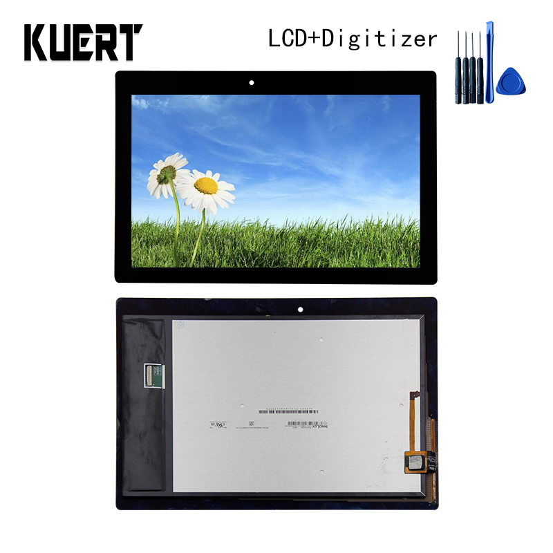 Panel LCD Combo Touch Screen Digitizer Glass LCD Display Assembly For Lenovo Tab 2 A10-70 A10-70F Accessories Parts Free Tools for lenovo yoga tablet 2 1050 1050f 1050l new full lcd display monitor digitizer touch screen glass panel assembly replacement