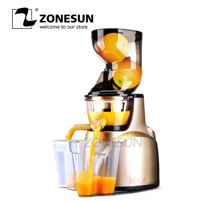 ZONESUN World Best Products Fruit Vegetable Citrus Low Speed Juice Extractor applicatori di etichette manuali